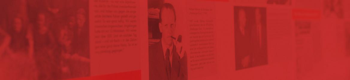 Im Ladenlokal auf der Kamenzer Straße 12 können Sie eine Ausstellung zum Leben und Wirken von Herbert Wehner sehen