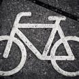 Fahrradkennzeichnung auf der Straße
