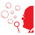 Unser Seifenblasenlogo in rot