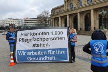 """Installation der """"Nurses for Future"""" in Hannover, um auf die Missstände in den Pflegeberufen aufmerksam zu machen. Foto: Nurses for Future, Future for Nurses"""