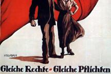 Plakat der SPD zum Frauenwahlrecht, 1919