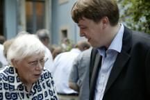 Greta Wehner und Christoph Meyer am 11. Juli 2006 im Garten des Wehnerwerks
