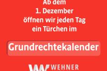 Ab dem 1. Dezember öffnen wir jeden Tag ein Türchen im Grundrechte-Adventskalender