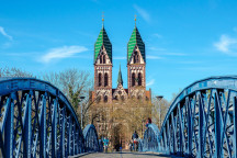 Die Wiwilíbrücke in Freiburg
