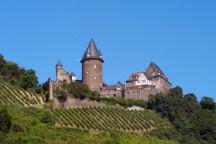 Blick auf die Burg Stahleck