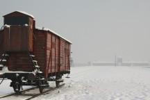 Blick auf die Bahnrampe im Lager Auschwitz-Birkenau