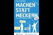 Werbeflyer für das FSJ Politik in Sachsen