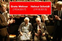 Greta Wehner und Helmut Schmidt auf dem 100. Geburtstag von Herbert Wehner 2006