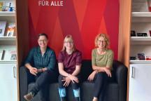 Unsere drei Kolleginnen Paula, Lisa, Claudia