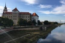Blick auf das Residenzschloss in Torgau