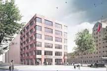 Entwurf des Herbert-Wehner-Hauses in Dresden